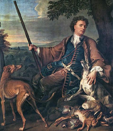 Francois Desportes Portrait of the Artist in Hunting Dress